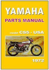 YAMAHA Parts Manual CS5 CS5E USA 1972 on Replacement Spares Catalog List