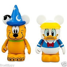 "Disney Parks Mickey Vinylmation Storybook Series 3"" Donald  & Sorcerer Pluto NEW"
