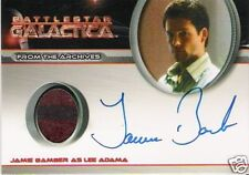 BATTLESTAR GALACTICA 4 JAMIE BAMBER AS LEE ADAMA AUTOGRAPH COSTUME CARD VARIANT