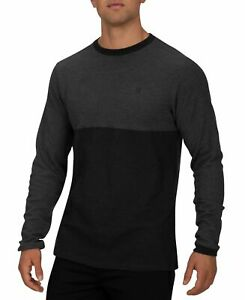 Hurley Mens T-Shirt Black Size 2XL Harrison Thermal Colorblock Tee $39 #270