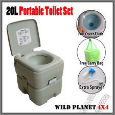 20L Portable Toilet Outdoor Camping Potty W Carry Bag Caravan Camp Boating