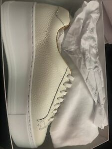 Russell And bromley Size 6. White Grainy Calf.
