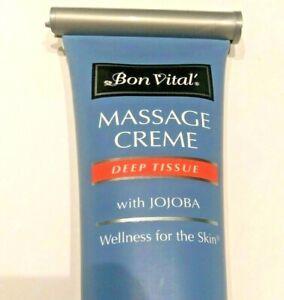 New Bon Vital' Deep Tissue Massage Crème With Jojoba. 8fl Oz - Free Shipping