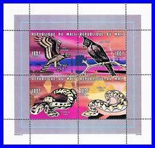 MALI 1996 RAPTOR BIRDS & SNAKES M/S MNH REPTILES (K-LM-DEC)