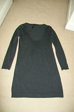 Marc Cain-grey wool/silk/cashmere tunic jumper/dress.Size 2(M)New without tags.