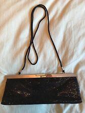 Kate Landry Black Sparkle Clutch or Shoulder Bag with 1 Pocket