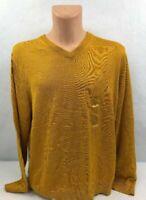 Nautica Mens Sweater V Neck Yellow Gold Variety Sizes