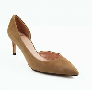 New JCREW Size 6 Lucie Suede D'Orsay Pumps in Saddle