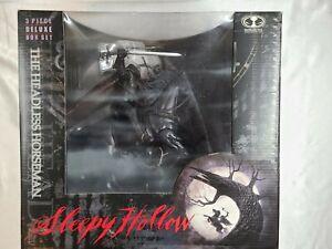 1999 SLEEPY HOLLOW HEADLESS HORSEMAN MCFARLANE 3 PIECE DELUXE BOX SET MIB NR!