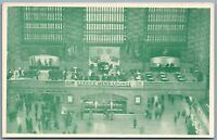 GRAND CENTRAL TERMINAL NY RAILROAD STATION ANTIQUE POSTCARD railway depot