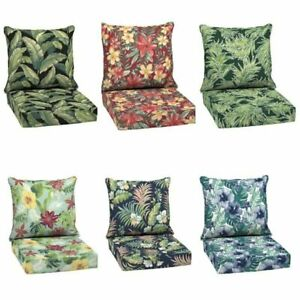 """Outdoor Deep Seat Chair Patio Cushions Set Pad UV & Fade Resistant Furniture 24"""""""