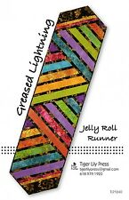 GREASED  LIGHTNING Quilted Jelly Roll Table Runner Pattern by Tiger Lily Press