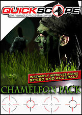 Cheatergear Quick Scopes Chameleon Pack 4 Reusable Gaming Crosshair Aiming Decal