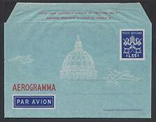 VATICANO 1950 Aerogramma 2A 55L NUOVO (E8)
