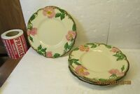"Set of 4 Franciscan DESERT ROSE 6 3/8"" B & B Plates  USA"