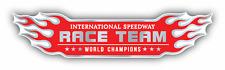 "Race Team Flame Emblem Car Bumper Sticker Decal 8"" x 3"""