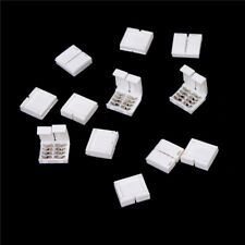 10PCS 4-PIN RGB Connector Adapter For 5050 RGB LED Strip Solderless 10mm  TB