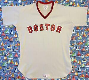 Rare Vintage Tim McAuliffe MLB Boston Red Sox George Scott Baseball Jersey