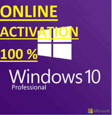 Windows 10 Pro Genuine Licence ONLINE Activation key🔥Instant Fast Delivery