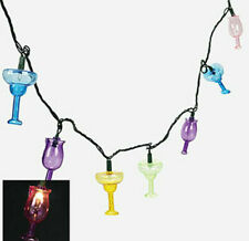 2 Sets Summer Cocktail Glasses String Lights Luau Party Decor Patio RV Strands