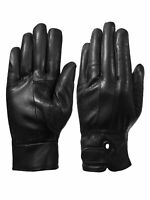 Giromy Samoni Womens Warm Winter Leather Driving Gloves with Side Vent Black