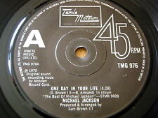 """MICHAEL JACKSON - ONE DAY IN YOUR LIFE      7"""" VINYL"""