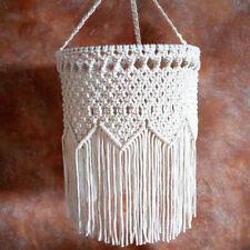Vintage Crochet Hanging Macrame Lampshades Ceiling Pendant Wedding Home Decor