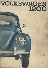 VW   KÄFER  1200  CABRIOLET  LIMOUSINE   1964   Betriebsanleitung   Bordbuch  BA