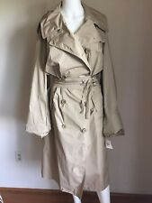 NWT DRIES VAN NOTEN Trench Coat Two zip waist pockets US S/6 $1495 Pristine