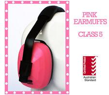 ** Certified Australian Standard PINK EARMUFFS * Class 5 Hearing Protection **