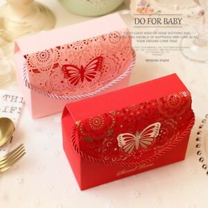 20pcs Favor Candy Box Sweet Gift Paper Bag Butterfly Boxes Wedding Party Decor