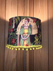 "18x18x9"" Frida Handmade Boho Handcrafted True Drum Lamp Shade Made in USA"