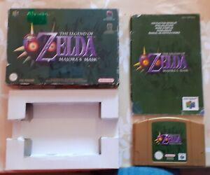 Nintendo 64 -the legend of  ZELDA    Majora's Mask     très bonne état complet