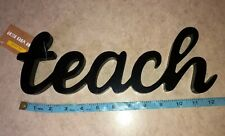Target Dollar Spot Teaching Teacher Word Sign Classroom Decor Cursive Teach