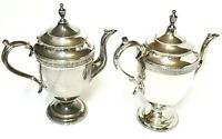 Antique 1800's Meriden Brit'a Company Britannia Silverplate Teapot Set No. 1790