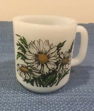 Glasbake coffee mug cup Daisy