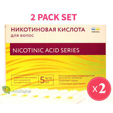 Nicotinic Acid. Effective Hair Loss Treatment and Growth Stimulation.2 PACK SET