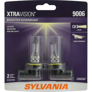 2 New 9006 Halogen Headlight Bulbs- Sylvania Xtravision 9006XV.BP2 Free US Ship