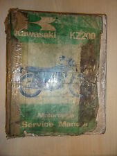 KAWASAKI KZ200 GENUINE PAPER FACTORY SERVICE MANUAL 1976-1978