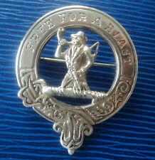 Plata Broche/Insignia-clan escocés Clark-John Fraser 1989 Inverness