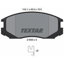 TEXTAR Original Bremsbelagsatz, Scheibenbremse Vorderachse Mitsubishi, 2165001