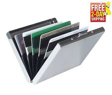 Stainless Steel RFID Blocking Credit Card ID Holder Men Slim Money Travel Wallet