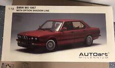 AUTOart MILLENIUM BMW M5 E28 1987 Shadow-Line Zinnober Red 1:18 - NIB VERY RARE