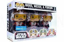 Biggs Wedge & Porkins Star Wars Pop! Funko Vinyl Figure Walmart Exclusive 3 Pack