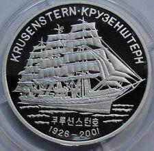 ORIGINAL 2001 KOREA 5 WON KRUSENSTERN SILVER PROOF RARE !!