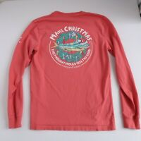 Vineyard Vines Mens XS Pink Mahi Christmas Long Sleeve Top XSmall Pocket T Shirt