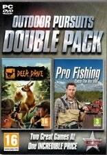 Set of 2 Outdoor/Hunting PC Games: DEER DRIVE and PRO FISHING: Catch the Big One