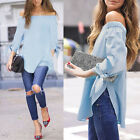 New Fashion Women Off Shoulder Sexy Long Sleeve T-Shirt Tops Blouse High Quality