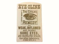 VTC Advertising Eye Oline NY Medical Trade Card Paper Ephemera