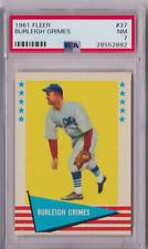 1961 Fleer Burleigh Grimes #37 PSA 7 P829